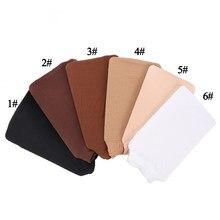 12 peças (6 pacote) peruca tampão de rede para perucas preto marrom loira cor tecelagem tampão para vestindo perucas snood náilon malha boné