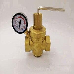 Image 2 - DN15/20/25/32 פליז מים לחץ הפחתת שמירה על שסתומים רגולטור Mayitr מתכוונן הקלה שסתומים עם מד מד
