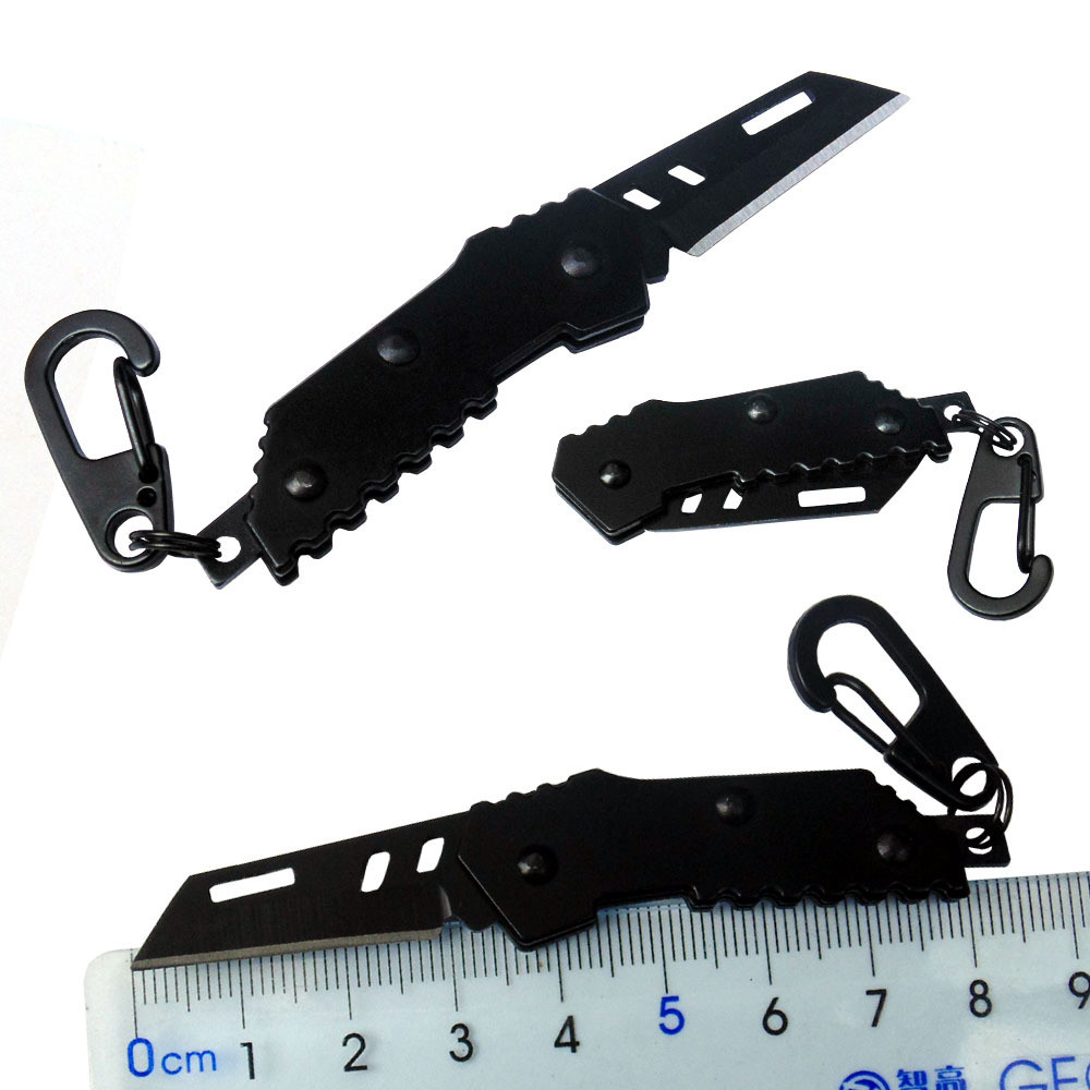 Mini Pocket  B2 Bomber Nano Blade Mini Knife Swiss Military Knife Bearing Steel Retired Knife Folding Keychain Camping Outdoor K