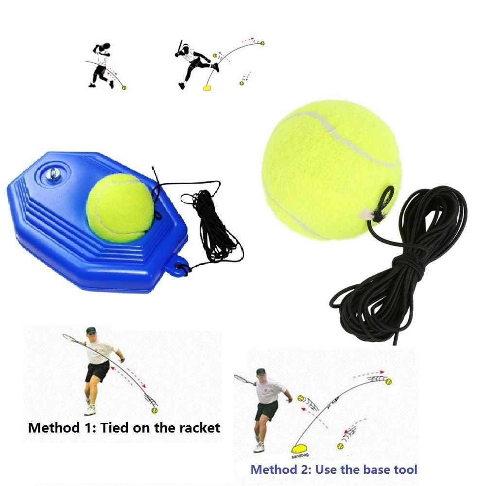 Eğitim tenis topu tenis raketi eğitim uygulama topları arka taban eğitmen aracı dize elastik halat egzersiz raquetas de tenis