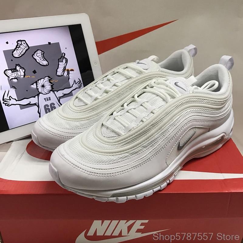 Ufficiale originale Nike Air Max 97 degli uomini Traspirante Runningg Scarpe da Tennis Delle scarpe Da Tennis di Sport Degli Uomini Classico Traspirante Low-top classico