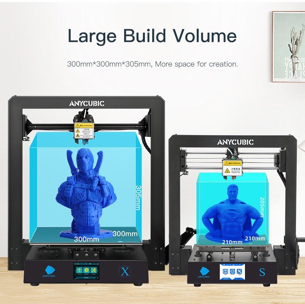 Image 3 - ANYCUBIC i3 Mega Series drukarka 3d mega s/mega x/mega zero pełna metalowa rama z ekranem dotykowym wysoka precyzja 3d drucker impresora 3dDrukarki 3D   -