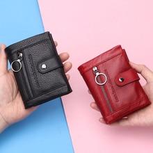 2020 새로운 소프트 정품 가죽 여성 지갑 동전 지갑 짧은 럭셔리 숙녀 작은 Rfid 카드 지갑 클러치 백 Portomonee Portfel