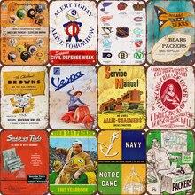 Placas de Metal Vintage Bar Café Pub señales decorativas Martini pegatinas de pared póster de Metal decoración del hogar