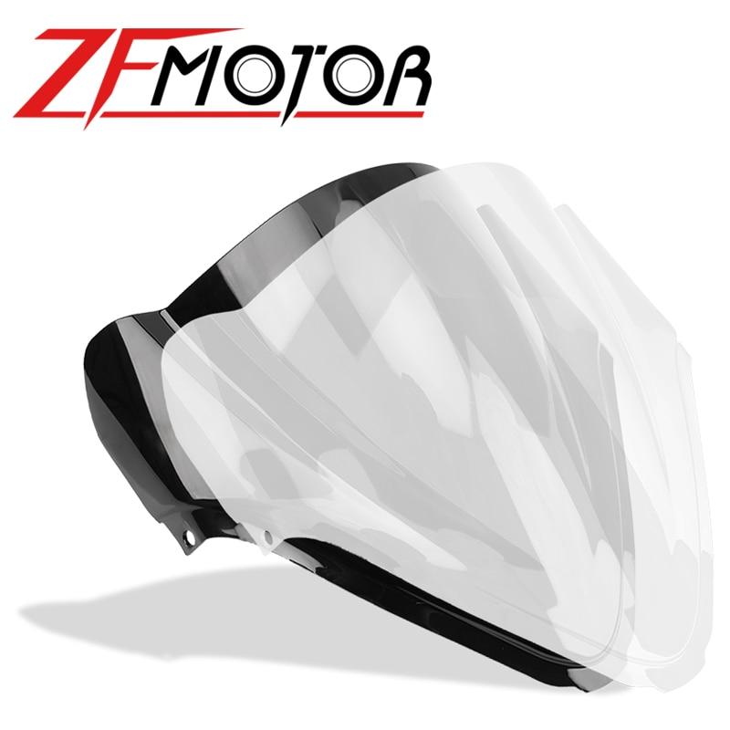 Ветровое стекло дефлектор лобовое стекло мотоцикла двойной пузырь для Suzuki Hayabusa GSX 1300R GSX-R 1300 GSXR1300 2008 - 2018