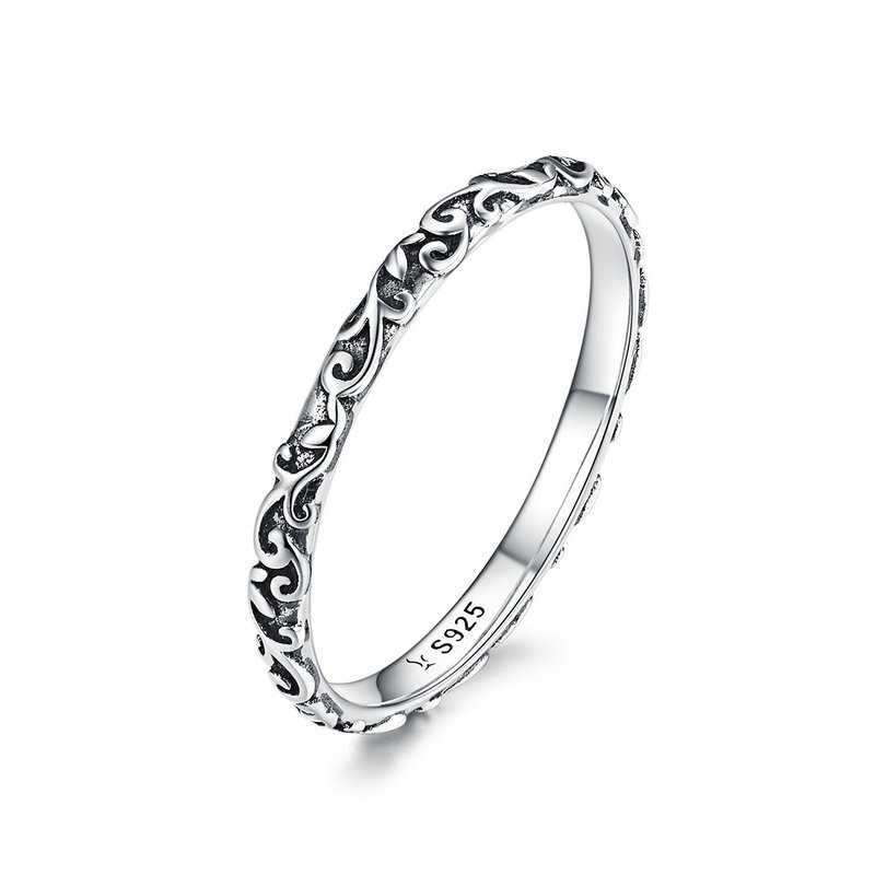 WOSTU 2019 New 100% 925 Sterling Silver Shimmering Wish Stackable Finger Ring For Women Fashion Original Jewelry Gift FB7649
