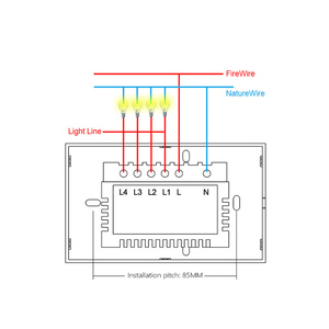 Image 5 - MEKISS abd akıllı dokunmatik anahtarı ışık anahtarı WIFI ağ bağlantısı App akıllı kontrol 1gang2gang3gang4gang AC110V220V kesici