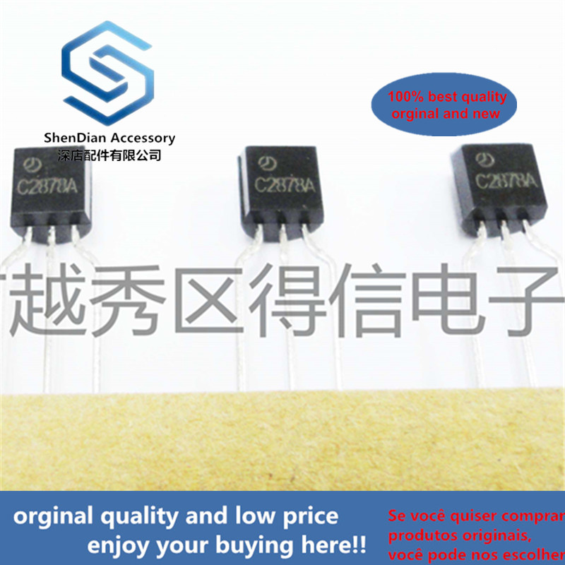 30pcs 100% Orginal New 2SC2878A 2SC2878 TO-92 For Muting And Switching Applications Real Photo