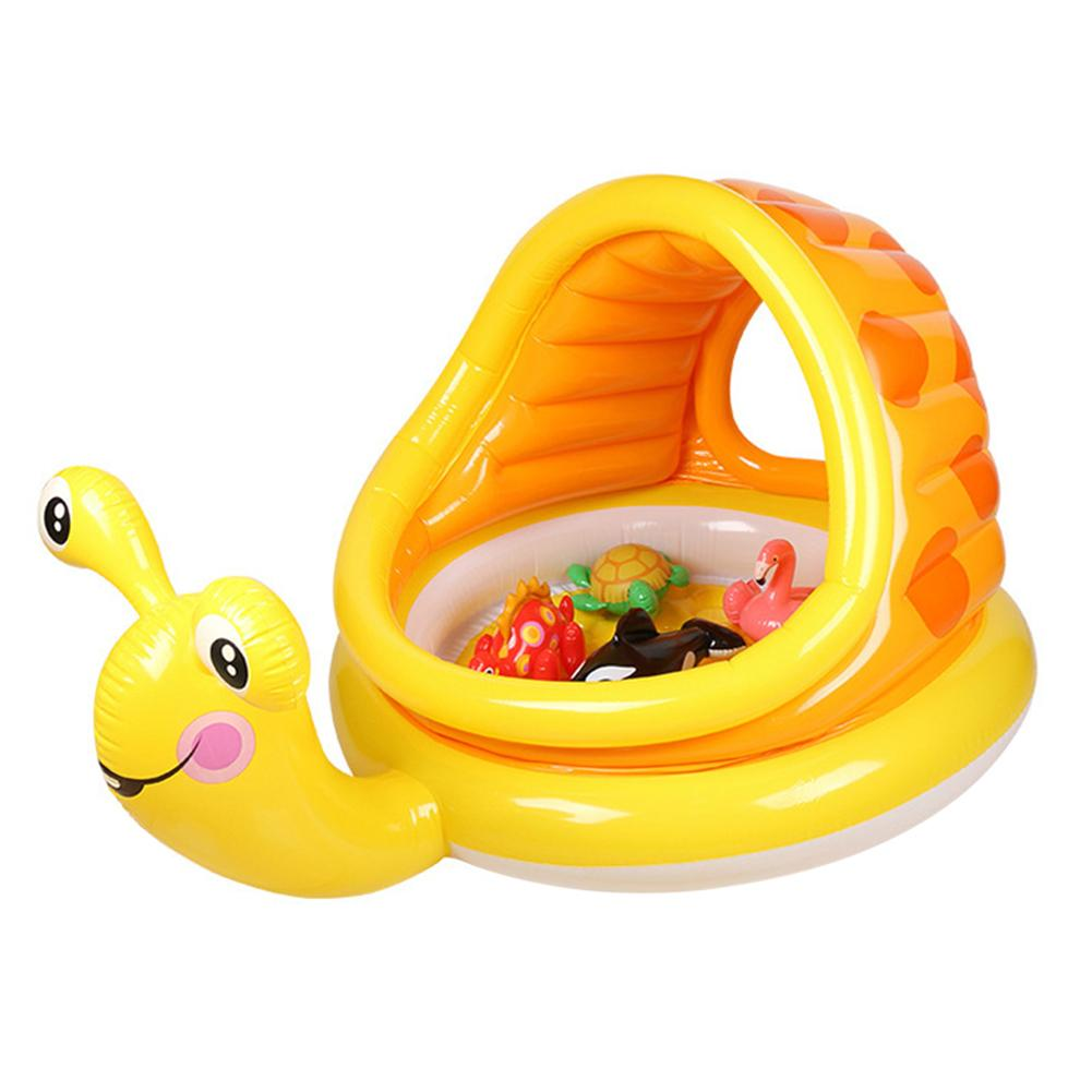 Cartoon Baby Inflatable Swimming Ring Kids Summer Swimming Pool Float Water Fun Pool Toy Children Swim Ring Seat Boat With Shade