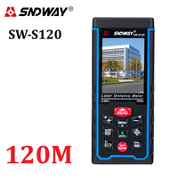 SNDWAY Laser Distance Meter 80M120M Rolutte Rangefinder Rangefinder Tape LCD Camera Rechargeable Battery Distance Measuring Tool