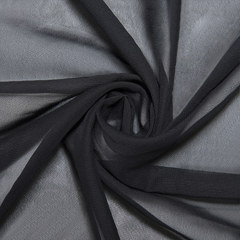 New Fashion 58 Inch Polyester Chiffon Fabric Solid Color Black Burgundy Fabric Cloth For Bridal Wedding Dress 50 Colors
