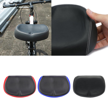 2020 New Universal PU Seat Mountain Bike Bicycle Saddle Flexible Soft Big Bum Noseless Shockproof Pad for Unisex Adults image
