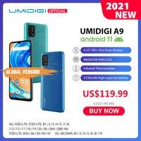 Umidigi-teléfono inteligente A9, teléfono móvil Android 11, versión Global, Triple Cámara ia de 13,0mp, 3GB RAM, 64GB rom, procesador Helio G25, Octa Core, pantalla HD de 6,53 pulgadas, batería de 5150mAh, preventa