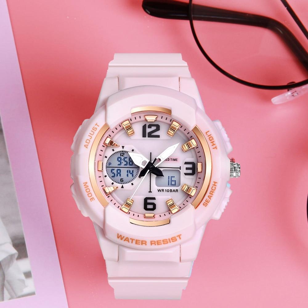 Shifenmei Luxury Brand Womens Watches Led Digital Watch Sports Watches Quartz Clock Ladies Bracelet Wristwatch Relogio Feminino