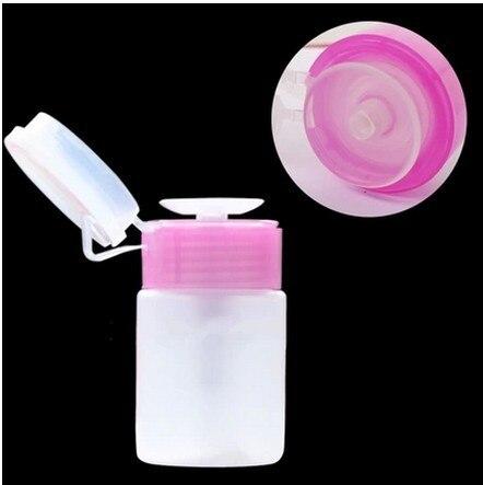 New 1pcs Empty Pump Dispenser Nail Polish Liquid Alcohol Remover Cleaner Bottle Nail Art Tools