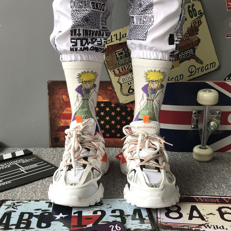High Quality Anime Character Naruto Man Socks Cosplay Naruto Woman Socks Fun Harajuku Hip Hop Skateboard Fashion Men Socks
