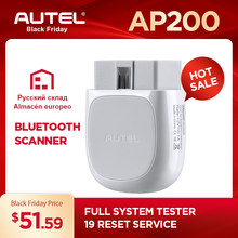 Autel AP200 OBD2 Scanner Bluetooth Code Reader Full System Diagnostics tool AutoVIN TPMS IMMO Service for Family DIYers PK MX808(China)