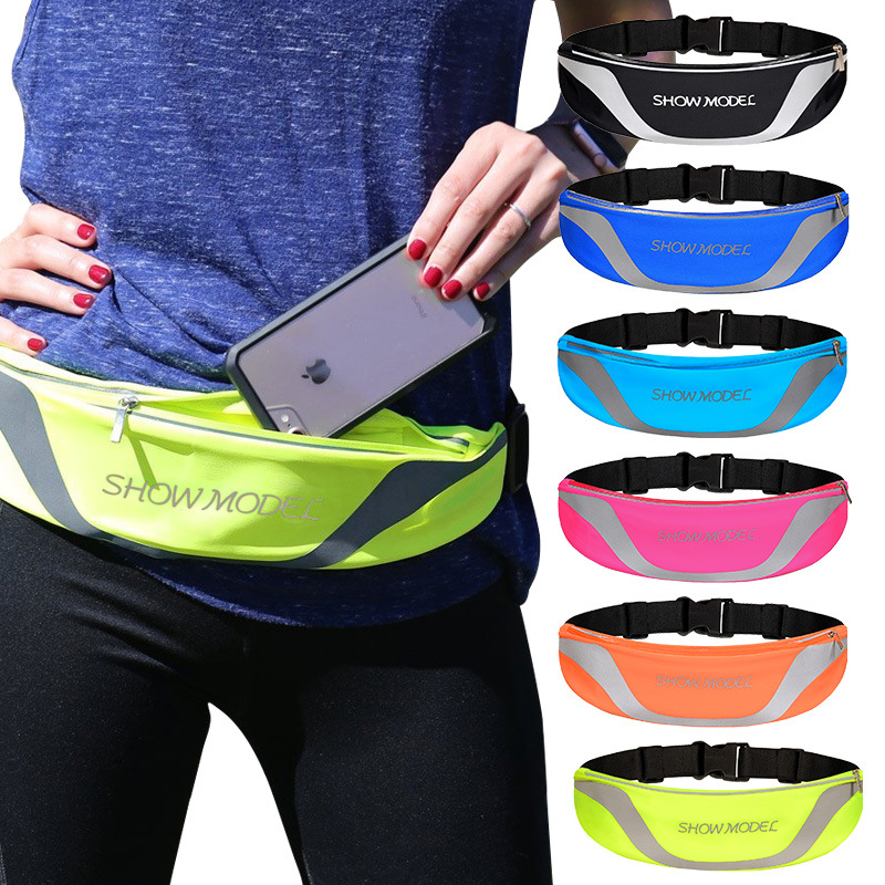 Waterproof Body Hugging Multi-functional Sports Equipment Mobile Phone Bag Marathon Waist Pack Men And Women Small Wallet Hidden