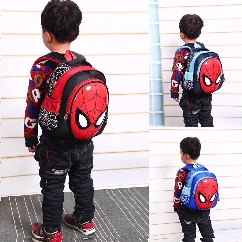 New Boys 3-6 Year Old 3D School Bags Child Spiderman Book bag Kids Shoulder Bag Satchel Knapsack 2020 Hot Waterproof Backpacks 6