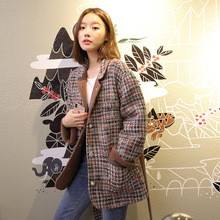 Medium-length Woolen Overcoat Small Fragrant Double-sided Women 2019 Plaid Coats