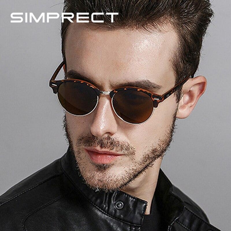 0-Мужские поляризованные солнцезащитные очки SIMPRECT, винтажные круглые солнцезащитные очки в стиле ретро 2020 с антибликовым покрытием смотреть на Алиэкспресс Иркутск в рублях