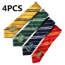 4 pçs adultos crianças clássico moda potter gravata faculdade estilo cosplay harris gravata fontes de festa aniversário presente dia das bruxas crianças