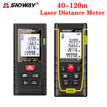 Original sndway laser medidor de distância 40m 60m 80m 100m rangefinder ferramentas de medição fita range finder para caça