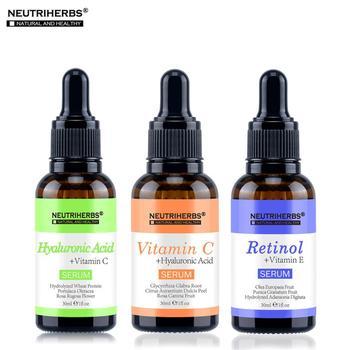 Collagen Pure Vitamin C Serum Face Hyaluronic Acid Skin Whitening Serum Moisturizer Anti Wrinkle Anti Aging Serum Kit 3 in 1 Set 1