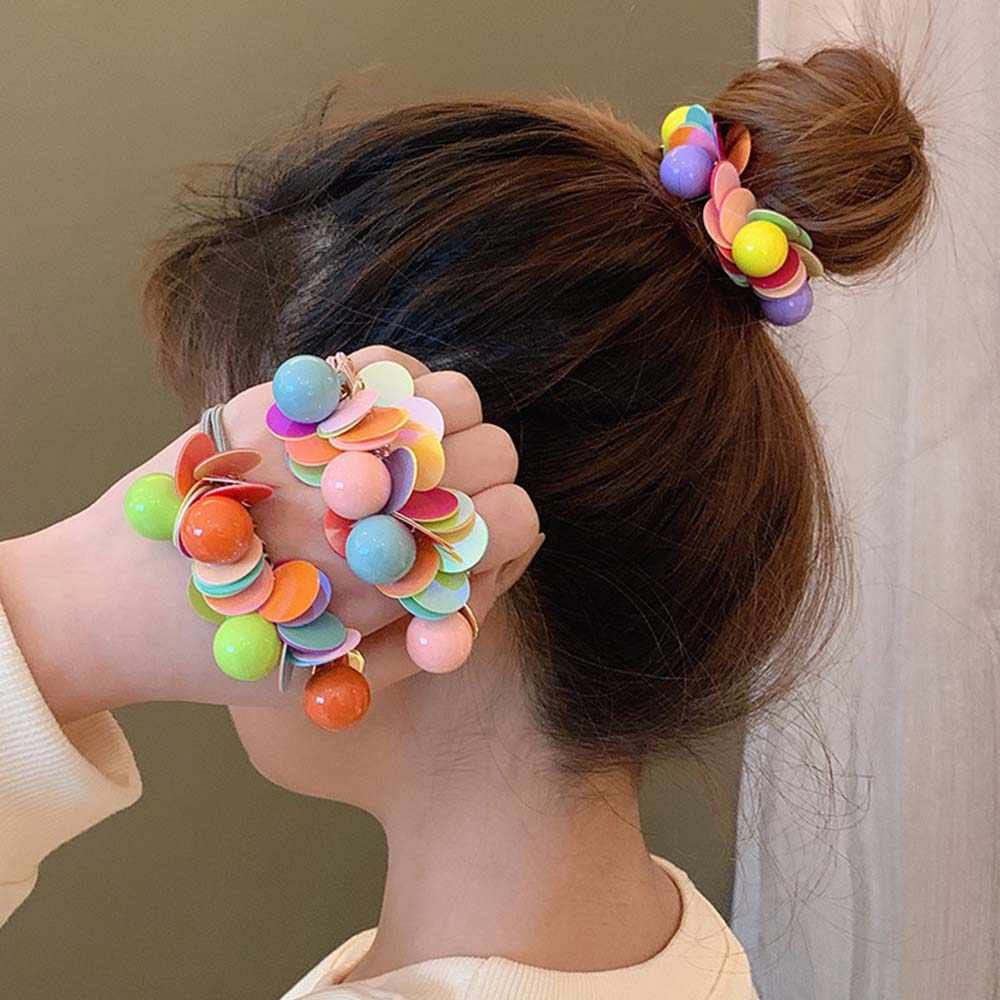 10//20PCS Girls Cute Elastic Hair Rings Ties Ropes Scrunchie Rubber Band Headwear