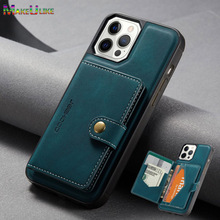 حافظة واقية فاخرة بفتحة بطاقة مغناطيسية لهاتف iPhone ، لـ 11 ، 12 Pro MAX ، Mini SE 2020 ، 7 ، 8 Plus ، 12Pro ، 11Pro ، X ، XR ، XS Max
