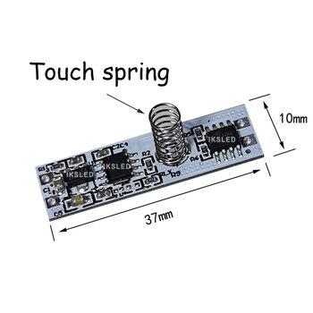 Primavera interruptor LED regulador de intensidad interruptor de Control de sensor táctil interruptor para tira de luz LED DC 12V Sensor táctil capacitivo interruptor de la bobina