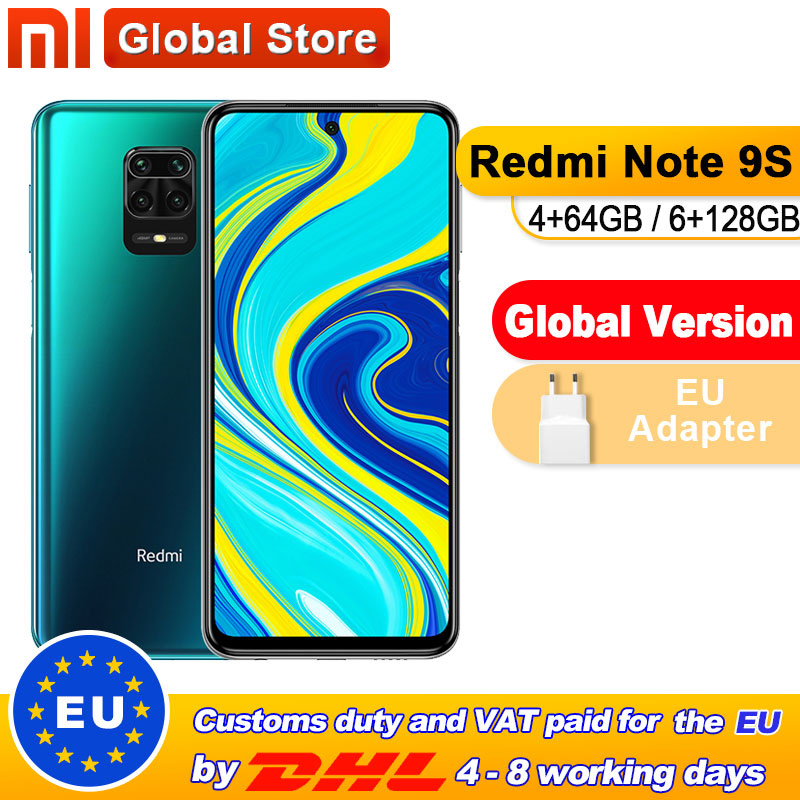 Global Version Xiaomi Redmi Note 9S 4GB 64GB/ 6GB 128GB Smartphone Snapdragon 720G Octa core 5020 mAh 48MP Quad Camera(China)