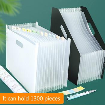 Wielowarstwowa torba na papier testowy pionowa rozkładana teczka A4 torba do przechowywania danych Student Office przenośna teczka materiały biurowe tanie i dobre opinie CN (pochodzenie) Powiększenie portfela Przypadku Z tworzywa sztucznego LYJ0279