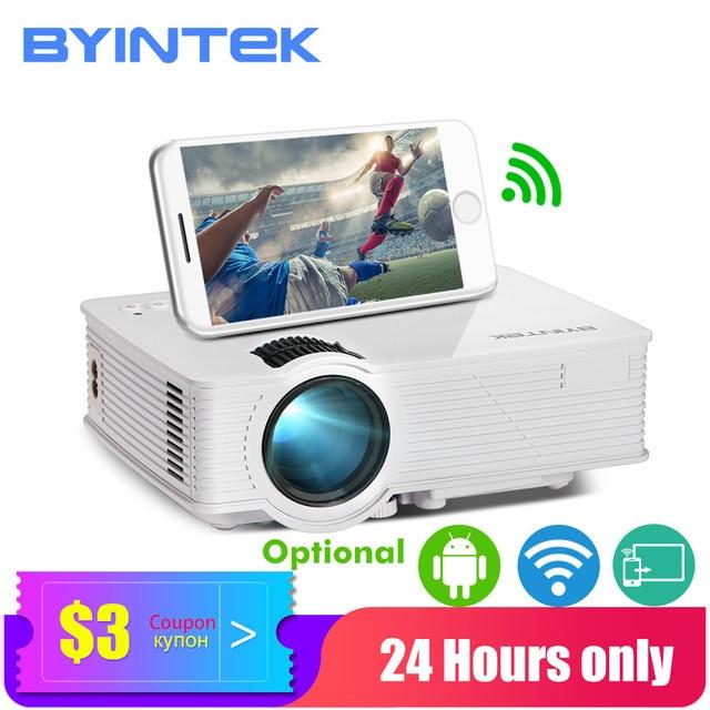 BYINTEK SKY BT140/BT140plus/BT140android 미니 LED 프로젝터 HD 홈 시어터 (옵션: Iphone 스마트 폰용 무선 디스플레이)