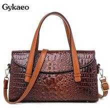 Gykaeo sacs à Main de luxe pour femmes, Sac à bandoulière de styliste, Sac de bonne qualité à motif Crocodile, fourre tout Shopping pour dames, Sac à bandoulière