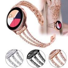 Bracelet de montre en acier inoxydable pour femmes, 20mm 22mm, pour samsung galaxy gear s3 46mm huawei gt