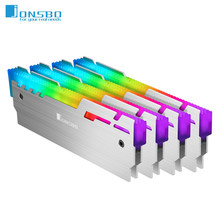 Jonsbo-disipador de NC-3 para memoria RAM, radiador de 5V, 3 pines, ARGB, memoria de ordenador de escritorio, chaleco de enfriamiento, almohadilla térmica de calor, enfriador para ordenador Ram DDR3 DDR4
