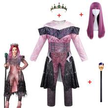 Różowe kostiumy Audrey dziewczyna kostiumy na Halloween dla dzieci kostiumy damskie kostiumy evie potomkowie 3 Mal strój baśniowy typu Cosplay tanie tanio PEIHANTZ Kombinezony i pajacyki Film i TELEWIZJA Dziewczyny Zestawy descendants 3 Poliester 5-24 Age M L XL XXL 120 130 140 150 160