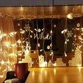 Гирлянда, рождественское наружное украшение, 4 м, свисает, 0,4-0,6 м, занавеска, сосулька, светодиодная гирлянда, ЕС, 220 В, сад, Рождество, свадьба, ...