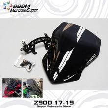 Defletor de vento ninja z900 z, proteção contra o vento de alta qualidade, defletor de ar para-brisa 900 zr900 zr 900 2017 2018 2019