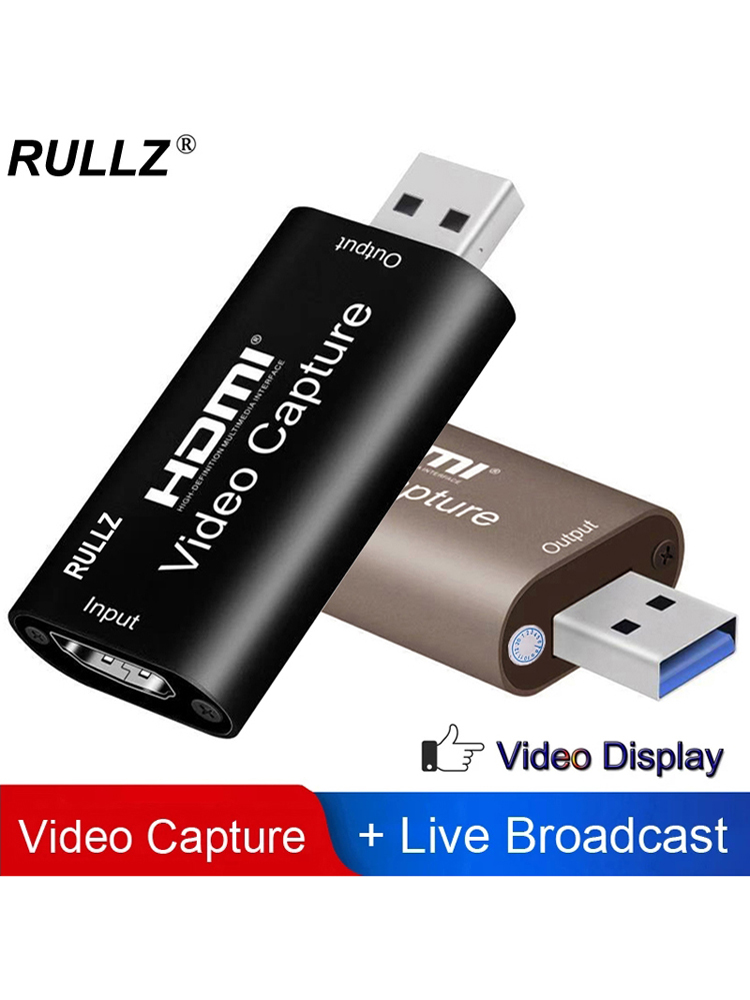 Rullz 4K Video Capture Card USB 3.0 2.0 HDMI Video Grabber Record Box for PS4 Game DVD
