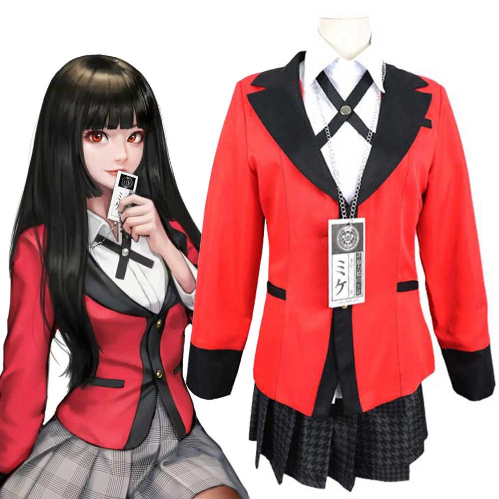 Kakegurui Yumeko Jabami Saotome Cosplay Costume School Girls Halloween Uniform