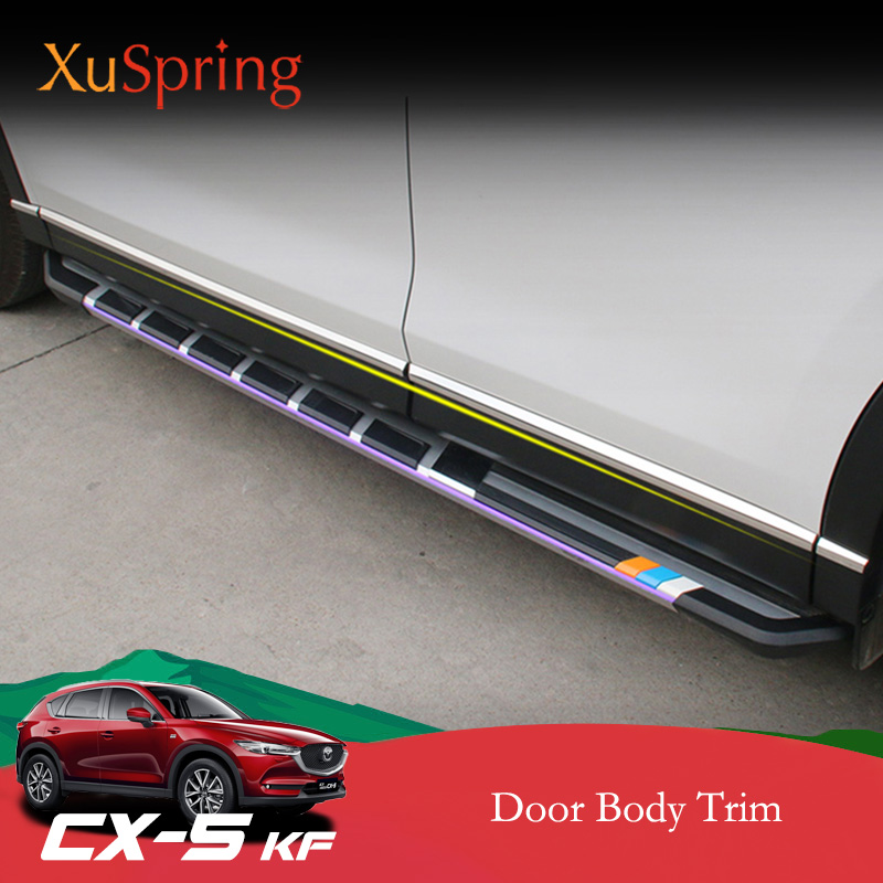 Auto Door Body Side Protective Trim Cover Strips Garnish Stickers Car-styling For <font><b>Mazda</b></font> CX-5 <font><b>CX5</b></font> 2017 <font><b>2018</b></font> 2019 KF image