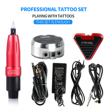 Tattoo Kit Professional Machine Gun Aurora II Power Supply Foot Pedal Permanent Makeup set