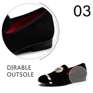 Image 5 - Мужские лоферы без застежки MEIJIANA, черные повседневные кожаные туфли, модная брендовая Свадебная обувь, большие размеры, 2019