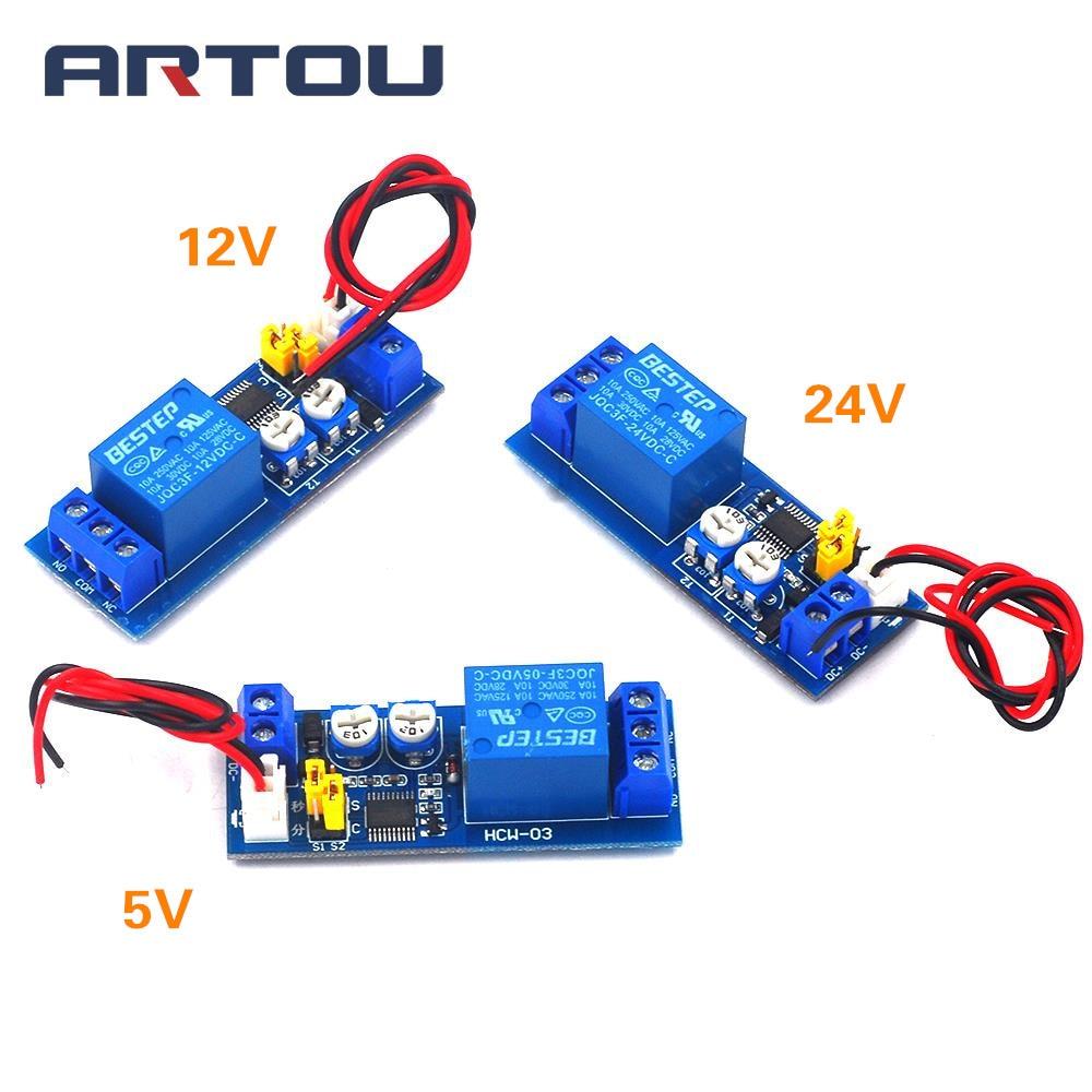 Adjustable Delay Relay Timer  Module DC5V 12V NE555 0~25s On//Off  Switch Control