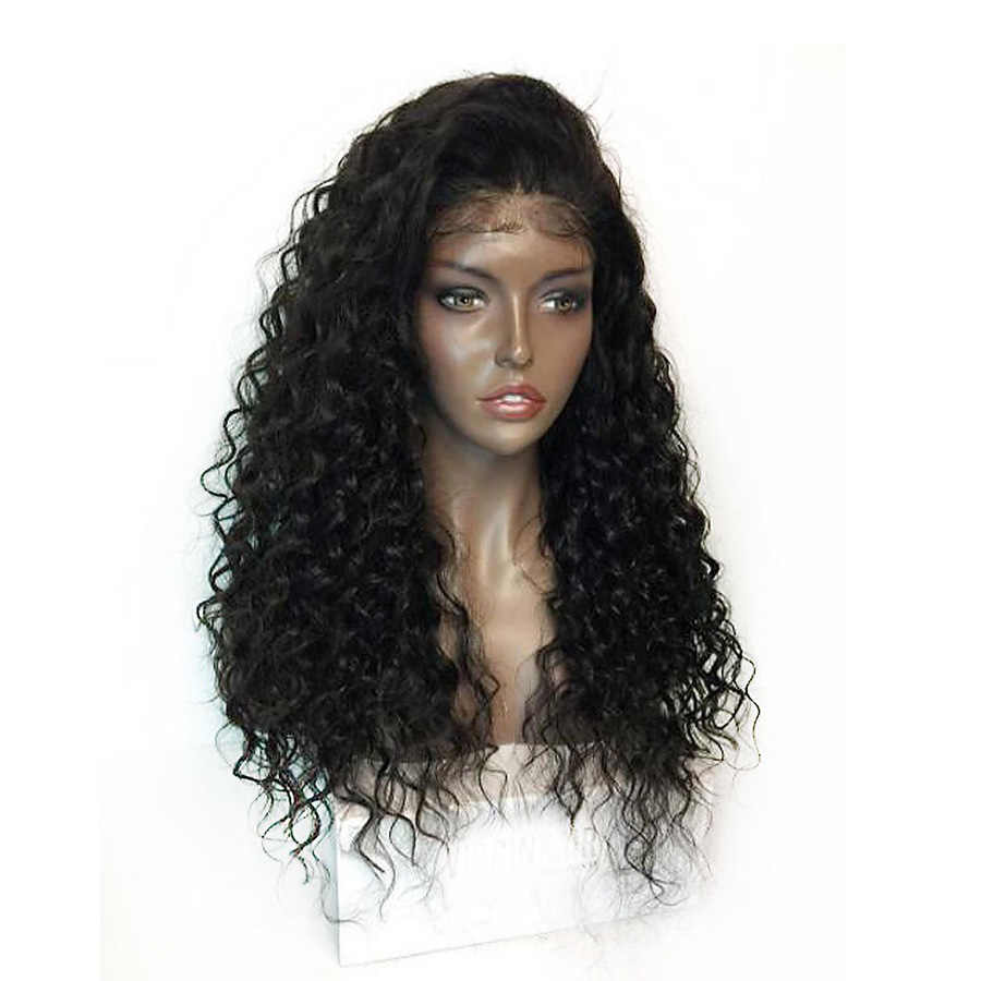 Natural Black Synthetic 13 4 Lace Front Wig Heat Resistant Loose