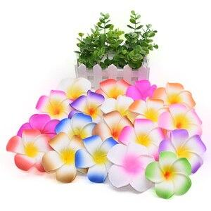 Image 5 - 10 개/몫 Plumeria 하와이 PE 거품 Frangipani 인공 꽃 머리 장식 꽃 계란 꽃 웨딩 장식 파티 용품