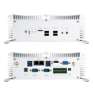 Image 4 - Fanless תעשייתי מיני מחשב Intel Core i5 7200U 8250U i7 7500U RS232/422/485 הכפול LAN HDMI VGA GPIO WiFi 4G LTE Windows לינוקס