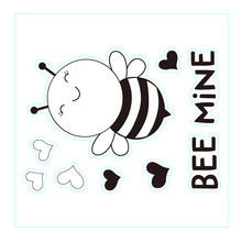 Cute Honeybee Clear Stamps Insect Background Stamps Card Craft Stamp(China)